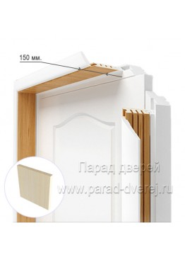 Доборный элемент (150 мм) ПВХ Беленый дуб
