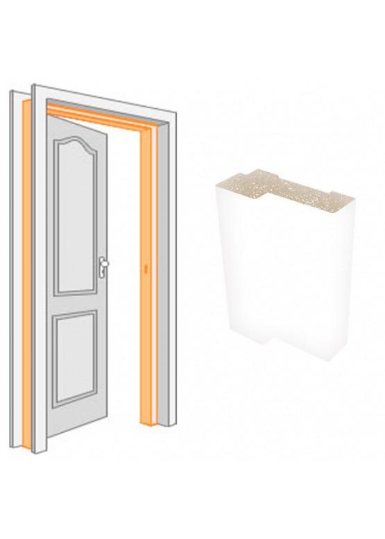 Короб дверной комплект (за 2,5 шт) облицованный ПВХ-пленкой Белый