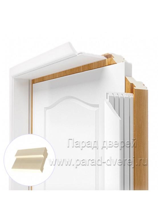 Короб дверной облицованный ПВХ-пленкой Беленый дуб