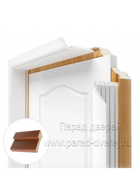 Короб дверной облицованный ПВХ-пленкой Итальянский орех