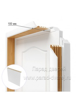 Доборный элемент (100 мм) (за 0,5 шт) ПВХ Белый
