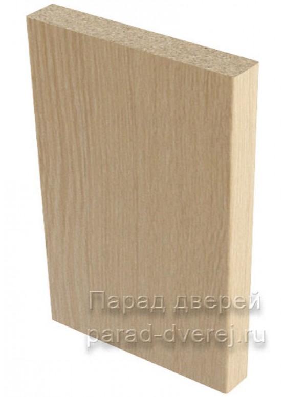 Наличник прямой  облицованный финиш-пленка Беленый дуб — 1 (шт.)