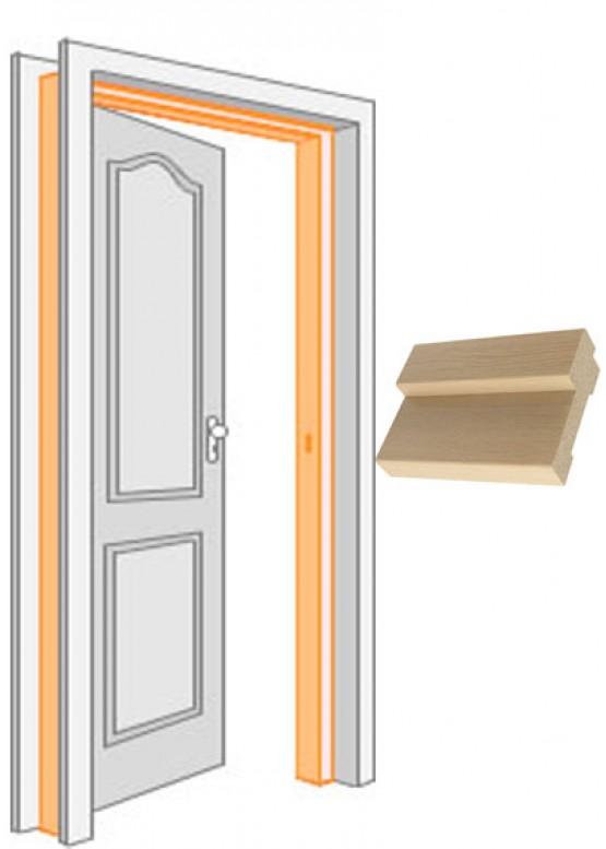 Короб дверной комплект (за 2,5 шт) облицованный финиш-пленка Беленый дуб — 1 (шт.)