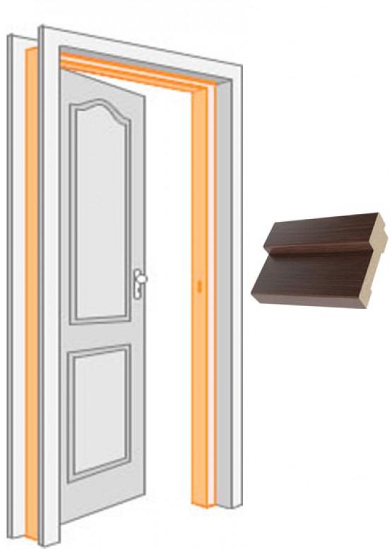 Короб дверной комплект (за 2,5 шт)облицованный финиш-пленка Венге — 1 (шт.)