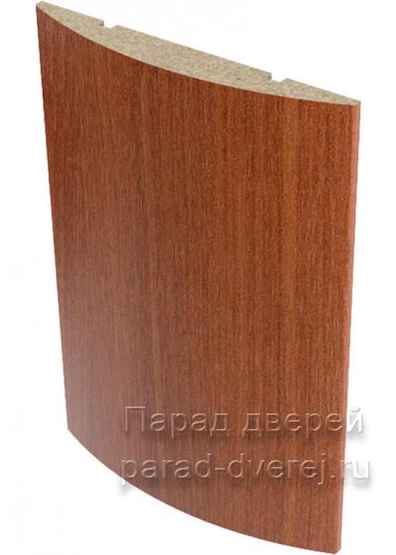 Наличник полукруглый  облицованный финиш-пленка Итальянский орех — 1 (шт.)