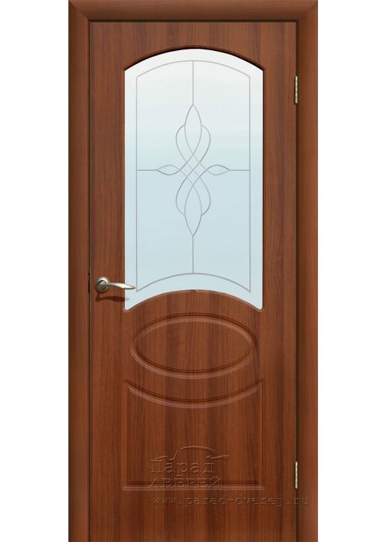 Межкомнатная дверь с ПВХ-пленкой Версаль ПО Итальянский орех