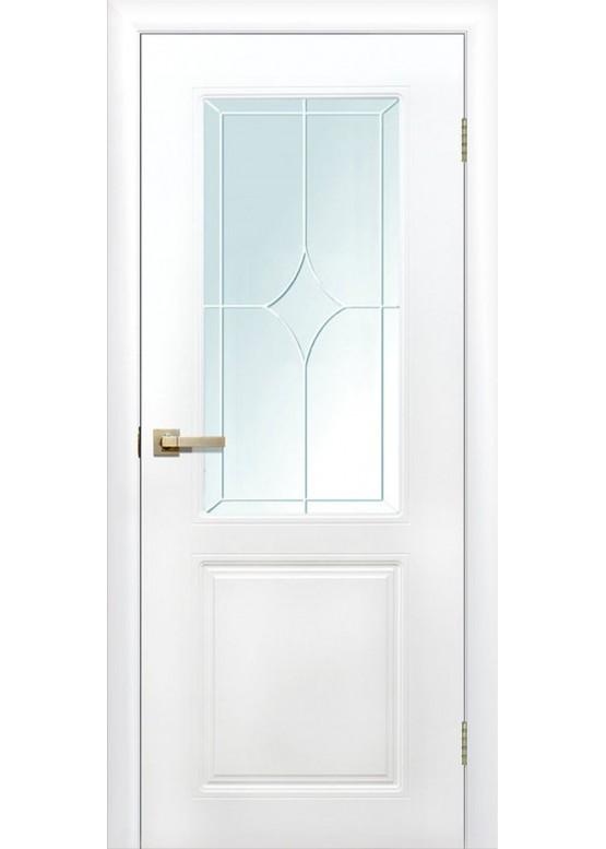 Межкомнатная дверь с ПВХ-пленкой Квартет ПО Белый