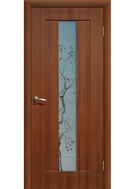 Межкомнатная дверь с ПВХ-пленкой Японская вишня ПО Итальянский орех