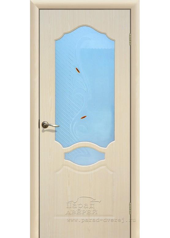 Межкомнатная дверь с ПВХ-пленкой Венеция ПО Беленый дуб