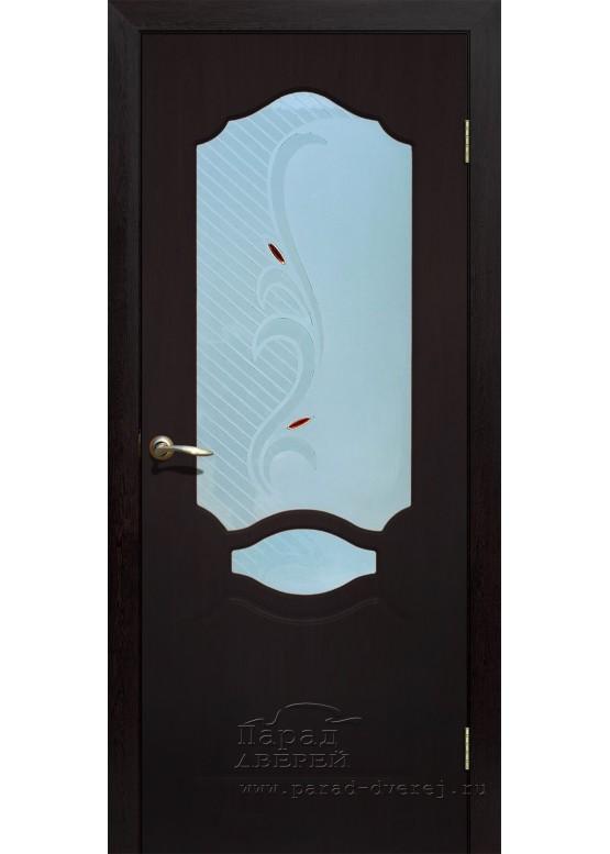 Межкомнатная дверь с ПВХ-пленкой Венеция ПО Венге