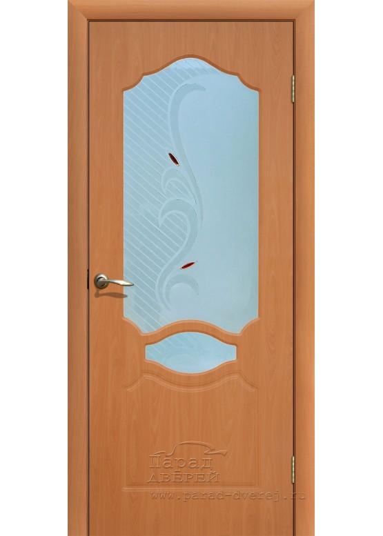 Межкомнатная дверь с ПВХ-пленкой Венеция ПО Миланский орех