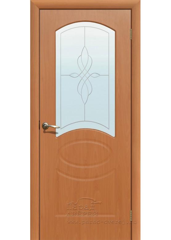 Межкомнатная дверь с ПВХ-пленкой Версаль ПО Миланский орех