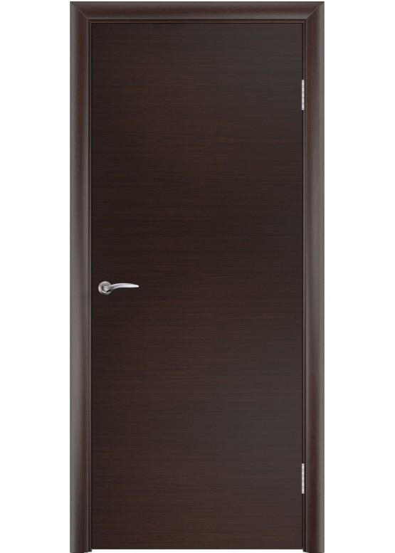 Дверное полотно гладкое ПГ Венге