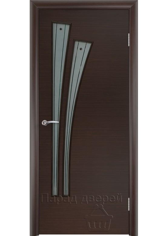 Межкомнатная ламинированная дверь Лагуна Ф Венге