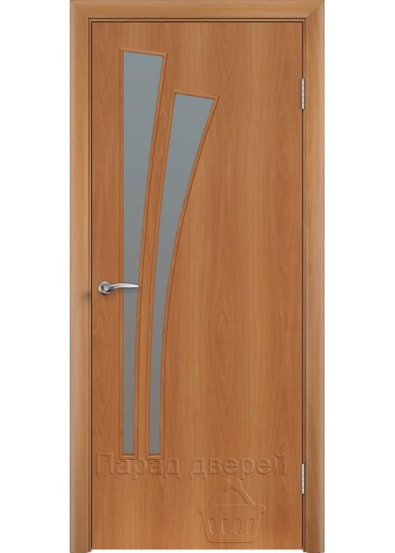 Межкомнатная ламинированная дверь Лагуна ПО Миланский орех