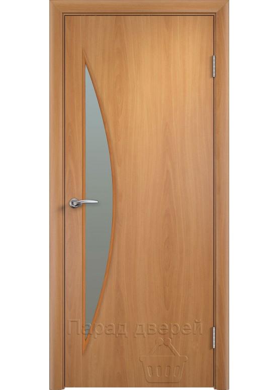 Межкомнатная ламинированная дверь Луна ПО Миланский орех