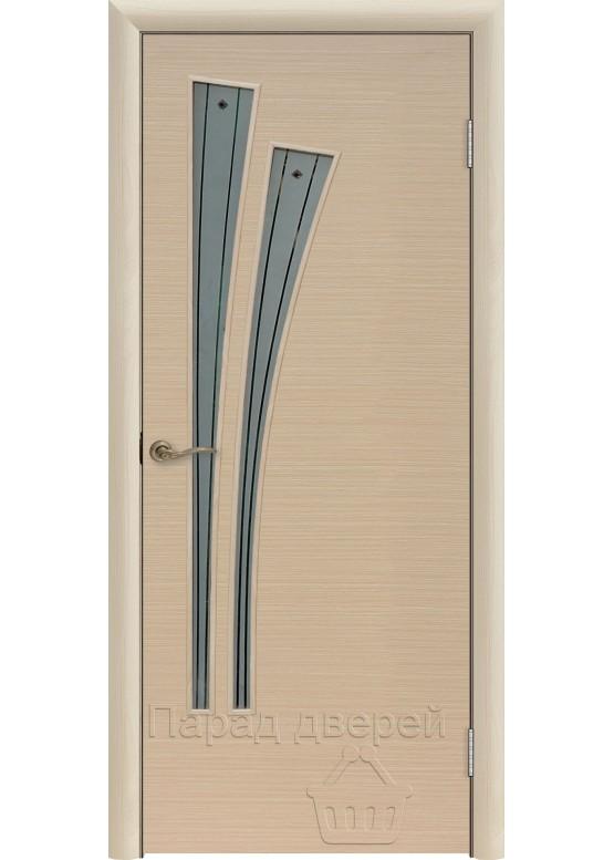 Межкомнатная ламинированная дверь Лагуна Ф Беленый дуб