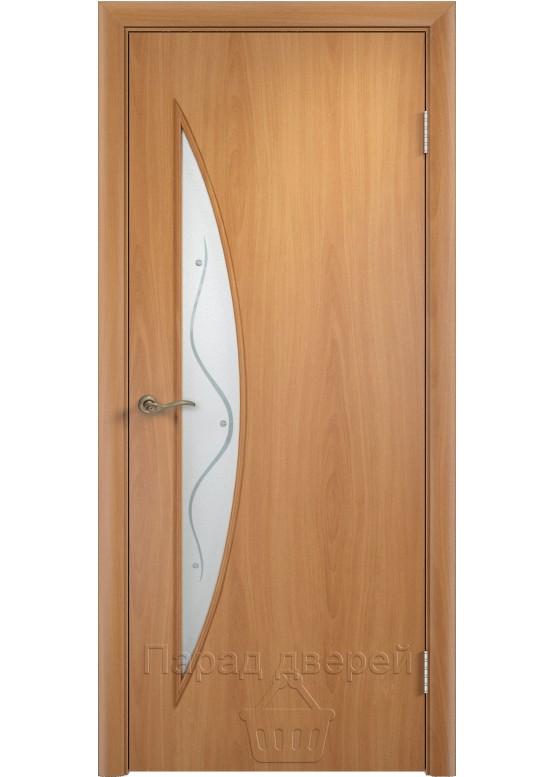 Межкомнатная ламинированная дверь Луна Ф Миланский орех
