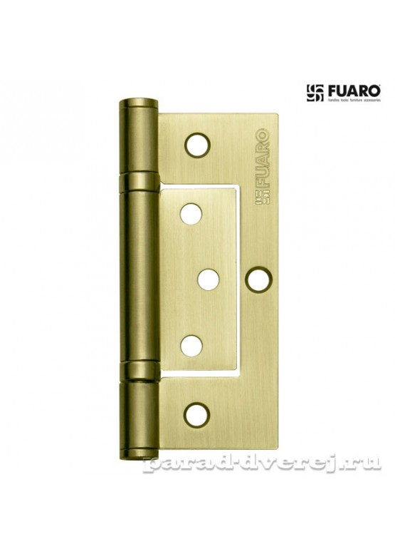 Петля универсальная без врезки 300-2BB 100x2,5 SB (мат. золото)