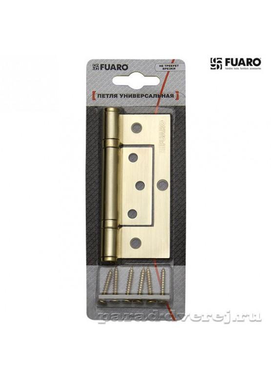 Петля универсальная без врезки 300-2BB/BL 100x2,5 CP (хром) БЛИСТЕР