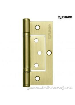 Петля 100x2,5 (300-2BB/BL универсальная без врезки) SB Матовое золото блистер