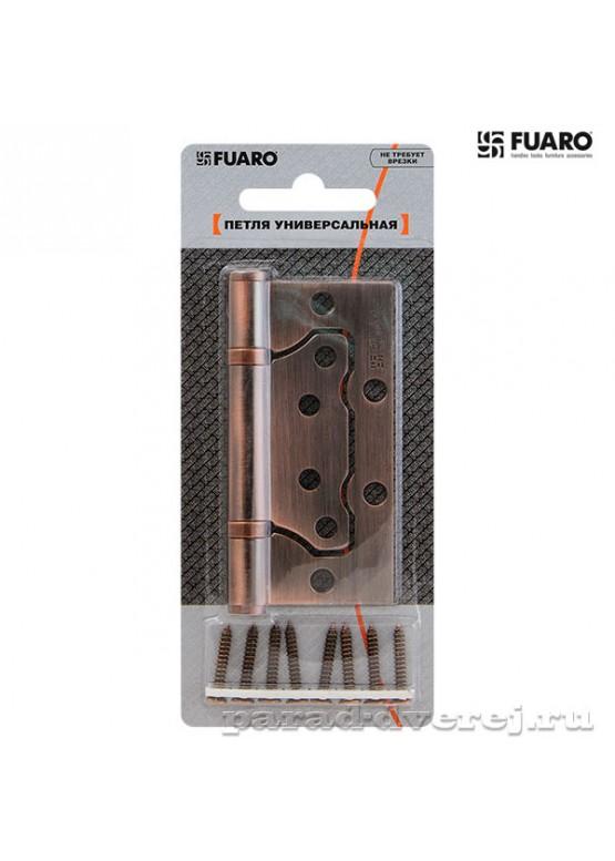 Петля универсальная без врезки 500-2BB/BL 100x2,5 AB (бронза) БЛИСТЕР
