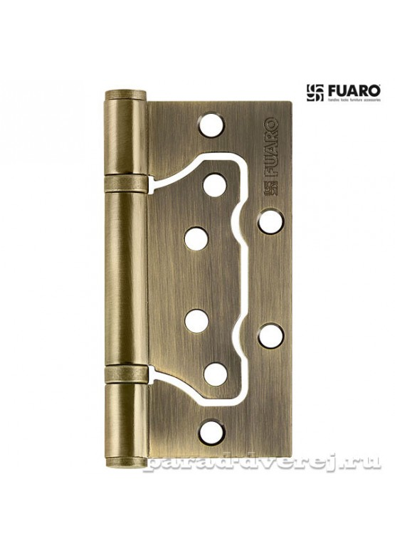 Петля универсальная без врезки 500-2BB 100x2,5 AB (бронза)