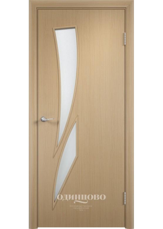 Межкомнатная ламинированная дверь С-2 ДО Беленый дуб